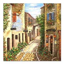 """twinprovence Square Car Magnet 3"""" x 3"""""""