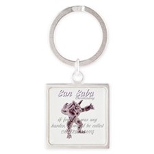 cheerleading Square Keychain