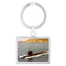 shouston ssn rectangle magnet Landscape Keychain