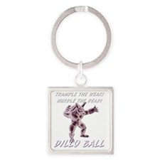tramplehurdle Square Keychain