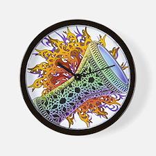 Rainbow Tribal Doumbek Wall Clock