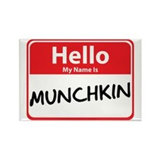 Hello My Name is Munchkin Rectangle Magnet