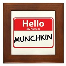 Hello My Name is Munchkin Framed Tile
