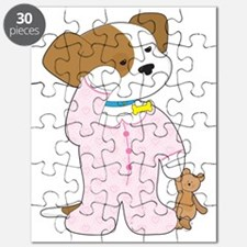 Cute Puppy Pajamas Puzzle