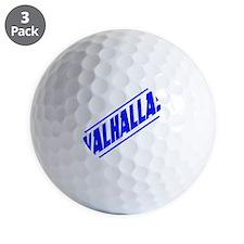 valhalla! blue Golf Ball