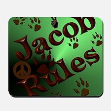 Jacob Rules shower Mousepad