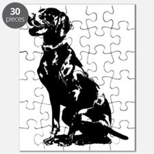 German Pointer Silhouette Puzzle