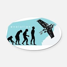 worth it wh Oval Car Magnet