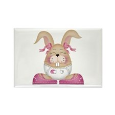 BABY GIRL BUNNY Rectangle Magnet