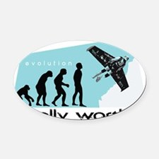 worth it Oval Car Magnet