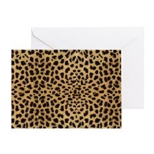leopardprintlaptop Greeting Card
