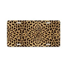 leopardprintlaptop Aluminum License Plate