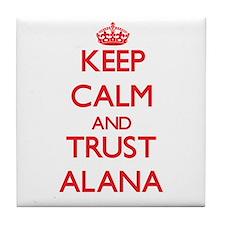 Keep Calm and TRUST Alana Tile Coaster