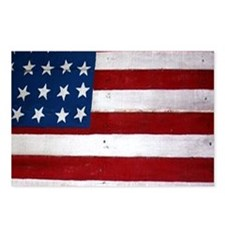 Patrotic flag on barn not Postcards (Package of 8)