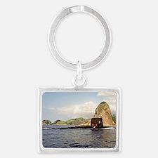 snook rectangle magnet Landscape Keychain