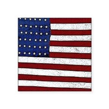 """Patrotic flag poster note c Square Sticker 3"""" x 3"""""""