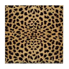 leopardprint4000 Tile Coaster