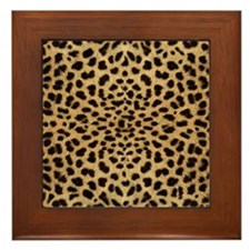 leopardprint4000 Framed Tile
