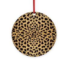 leopardprint4000 Round Ornament
