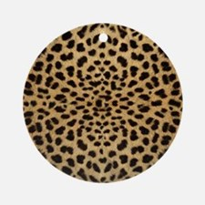 leopardprint4000 Round Ornament