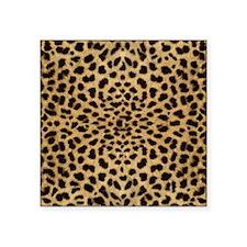 "leopardprint4000 Square Sticker 3"" x 3"""