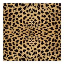 "leopardprint4000 Square Car Magnet 3"" x 3"""