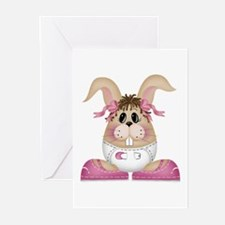 BABY GIRL BUNNY Greeting Cards (Pk of 10)