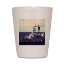 somers ddg framed panel print Shot Glass