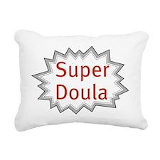 Super Doula Rectangular Canvas Pillow