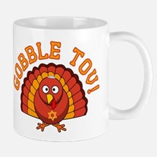 Gobble Tov Thanksgivukkah Turkey Mugs