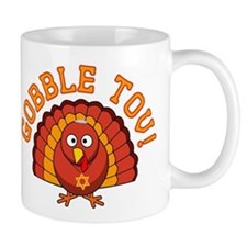 Gobble Tov Thanksgivukkah Turkey Mugs