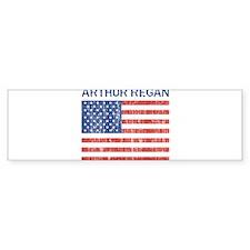 ARTHUR REGAN (Vintage flag) Bumper Bumper Sticker