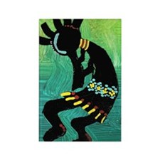 Dancing Kokopelli Rectangle Magnet