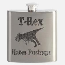 Trex hates pushups1 Flask