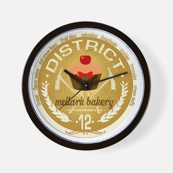 mellark bakery antique seal hunger game Wall Clock