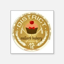 "mellark bakery antique seal Square Sticker 3"" x 3"""