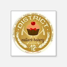 "mellark bakery antique seal Square Sticker 3"" x 3"""