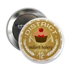 "mellark bakery antique seal hunger ga 2.25"" Button"