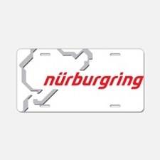 nurburgring map real Aluminum License Plate