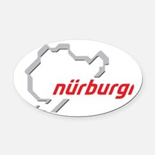 nurburgring map real Oval Car Magnet