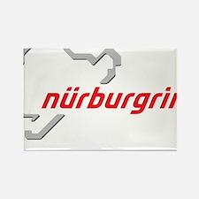 nurburgring map real Rectangle Magnet
