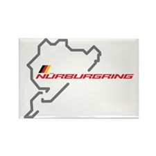 nurburgring map Rectangle Magnet