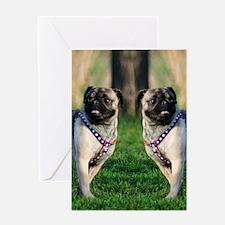 pug flip flops 3 Greeting Card