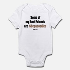 Shepadoodle dog Infant Bodysuit