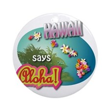 HAWAII 3 Round Ornament