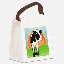 puzzleDairyCow Canvas Lunch Bag