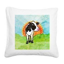squareDairyCow Square Canvas Pillow