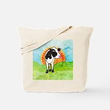 squareDairyCow Tote Bag