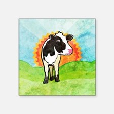 "squareDairyCow Square Sticker 3"" x 3"""