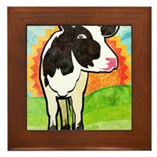 ipad2CaseDairyCow Framed Tile
